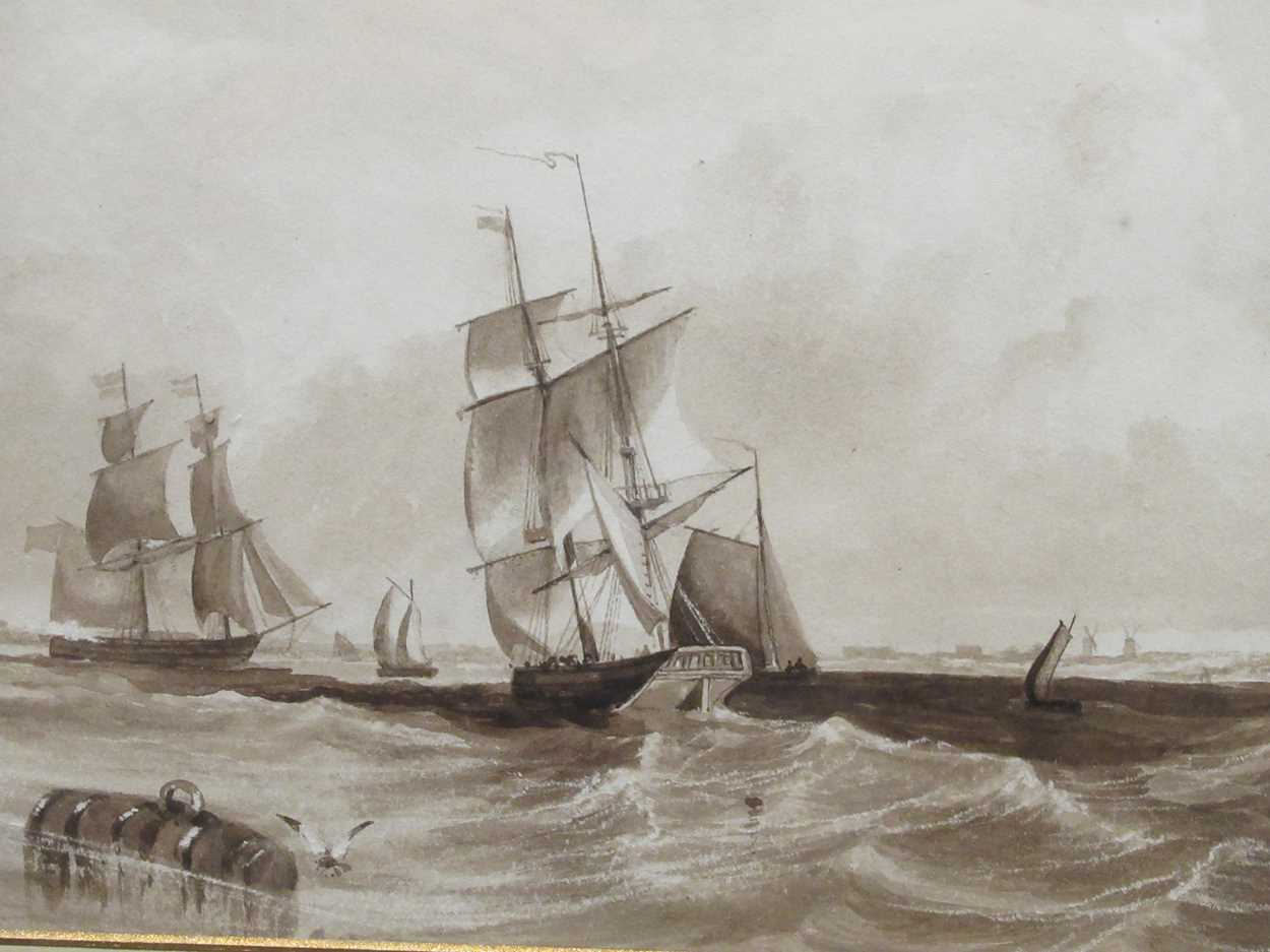 """Samuel H Phillips, Salvage at a shipwreck, signed lower left """"Samuel H Phillips 1906"""", - Image 3 of 8"""