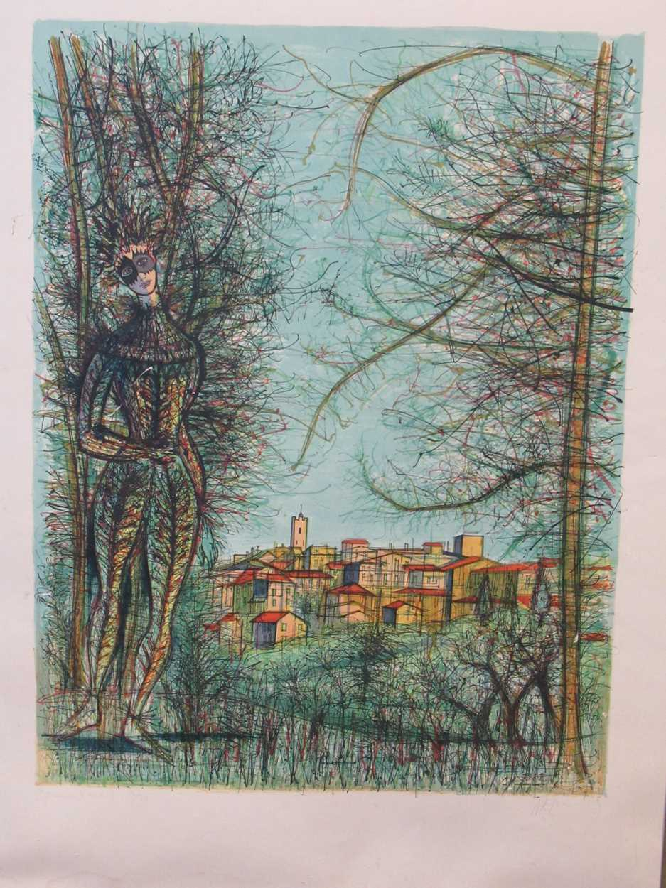 Two 20th century prints, to include: Jean Carzou (Armenian, 1907-2000), St-Paul-de-Vence, signed and
