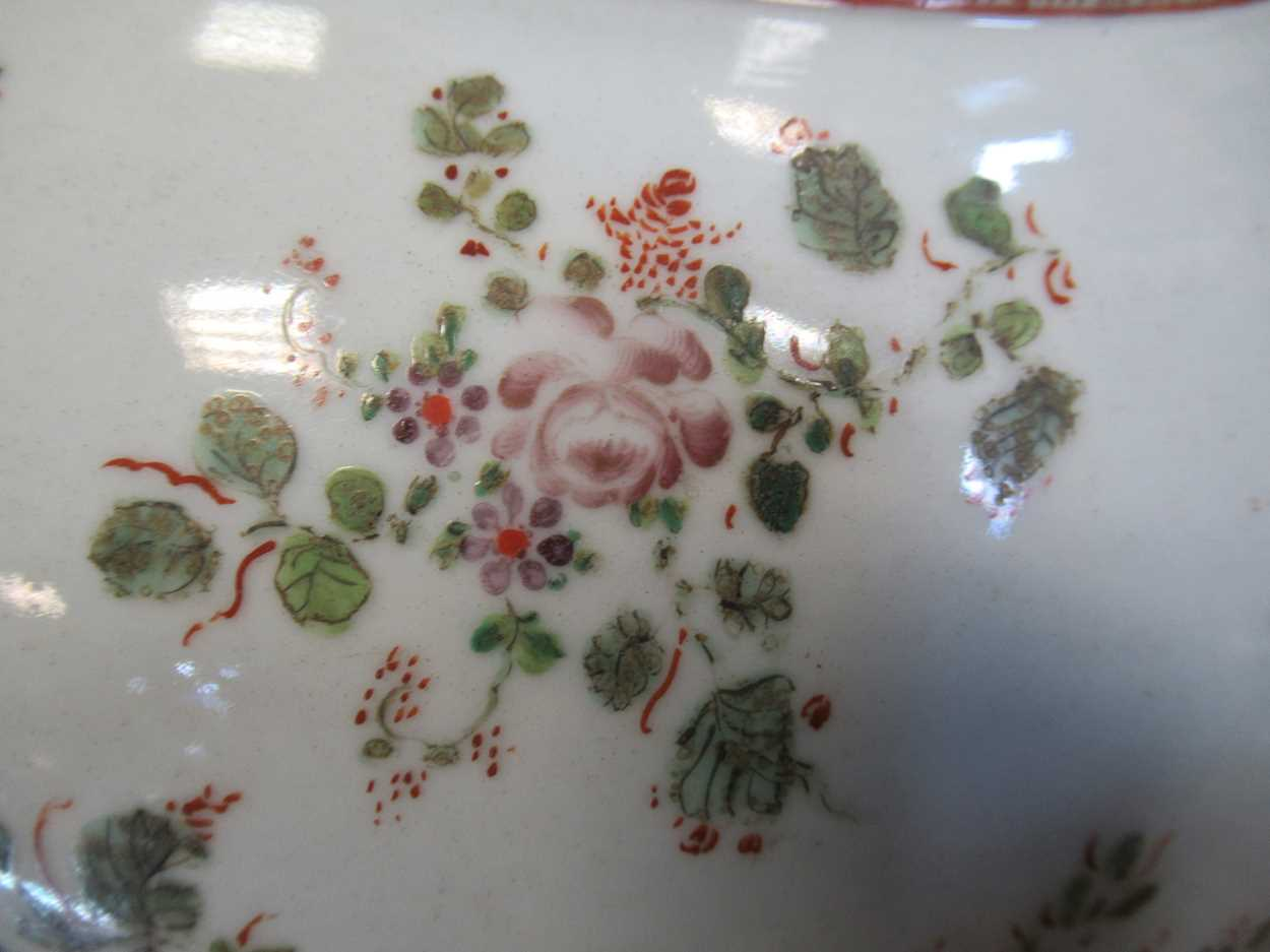 A large Sampson punch bowl, decorated in 18th century Chiense style, 36cm diameterCondition - Image 10 of 14