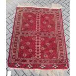 A finely woven Ersari rug,