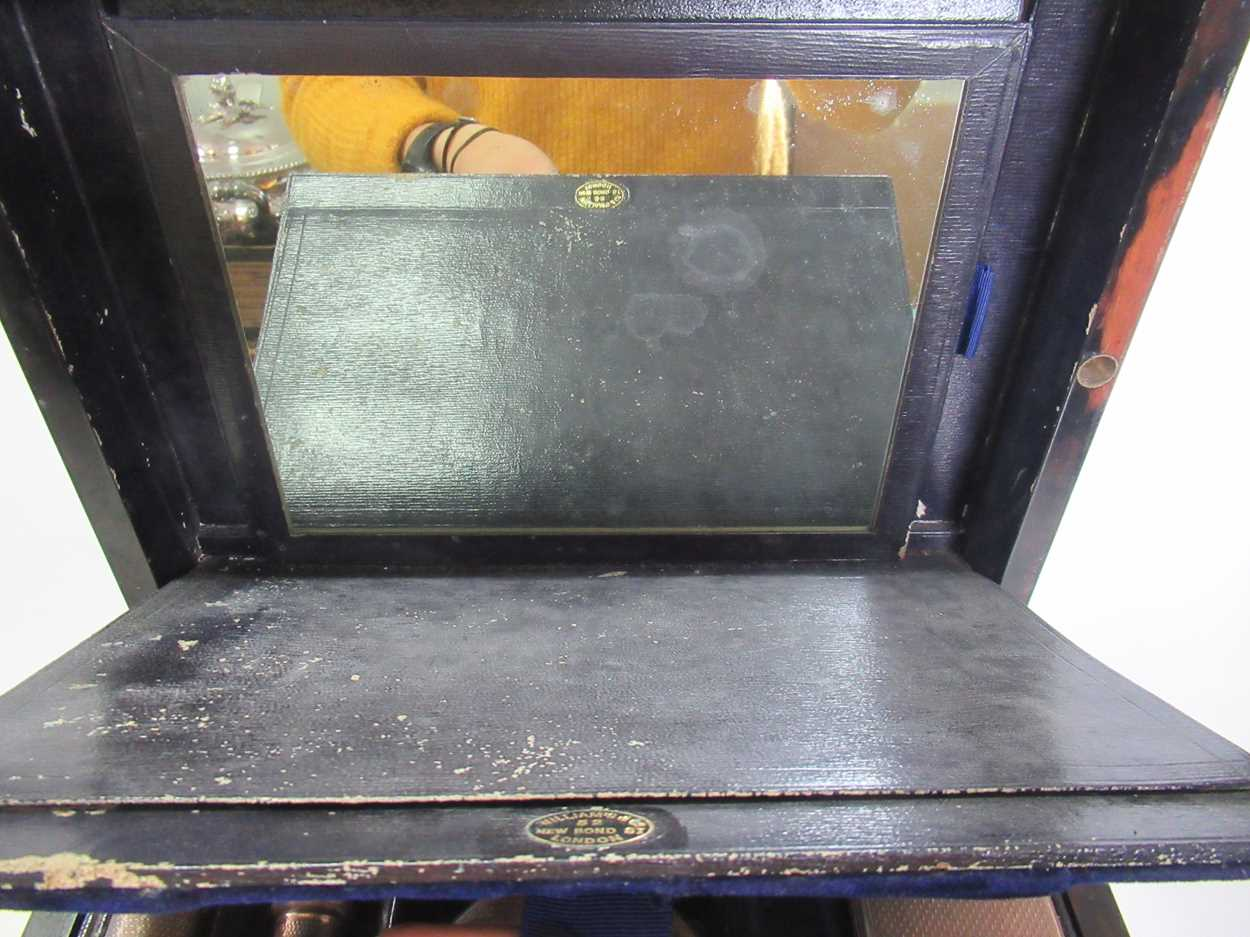 A coromandel fitted travelling dressing table box marked S.Mordan & Co, with brass plate engraved - Image 3 of 10