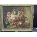 E. Bromhall (20th Century), A still life of flowers, signed 'E. Bromhall' (lower right) oil on
