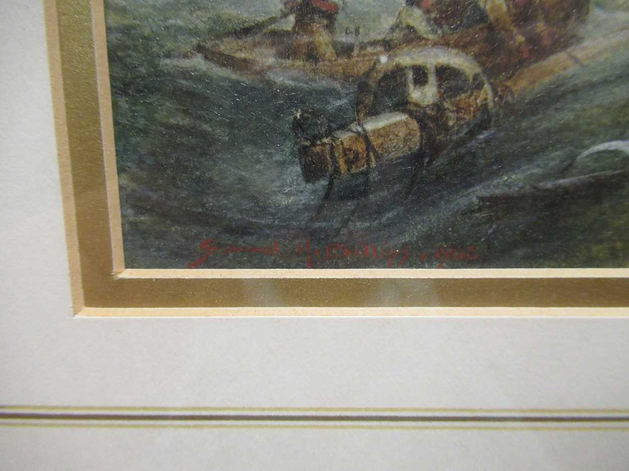"""Samuel H Phillips, Salvage at a shipwreck, signed lower left """"Samuel H Phillips 1906"""", - Image 7 of 8"""