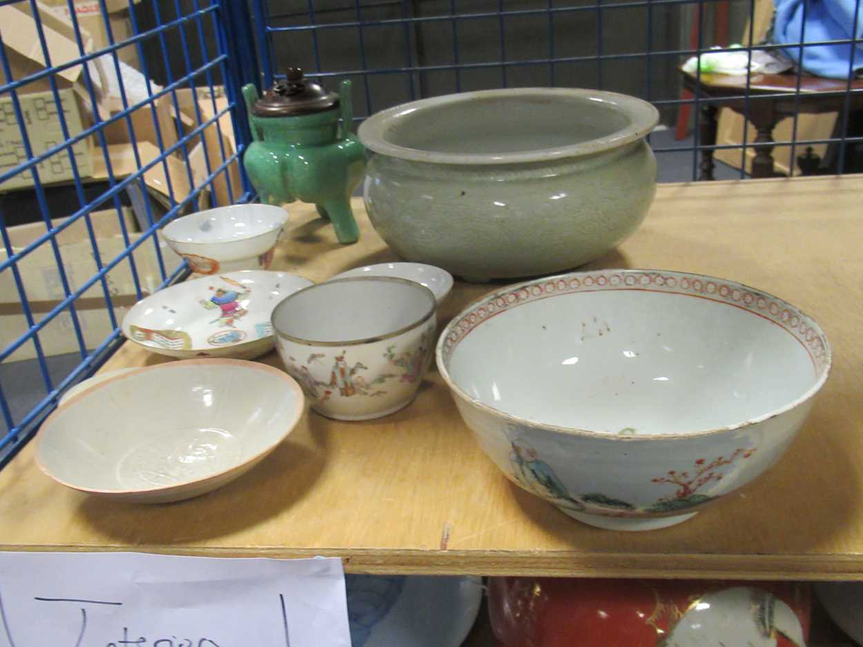 Various ceramic jars, plates and bowls (qty)Condition report: Marking and fading to gilt and pattern - Image 7 of 34