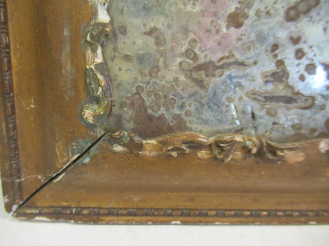 A distressed 19th century mirror, 62 x 48.5cm - Image 3 of 4