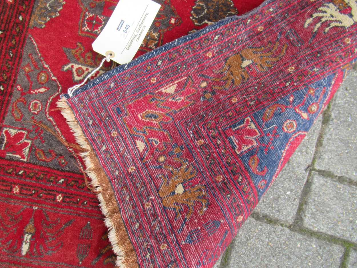 An Afghan rug, 132 x 83cm and a finely woven Baluchi rug, 128 x 87cm - Image 4 of 4