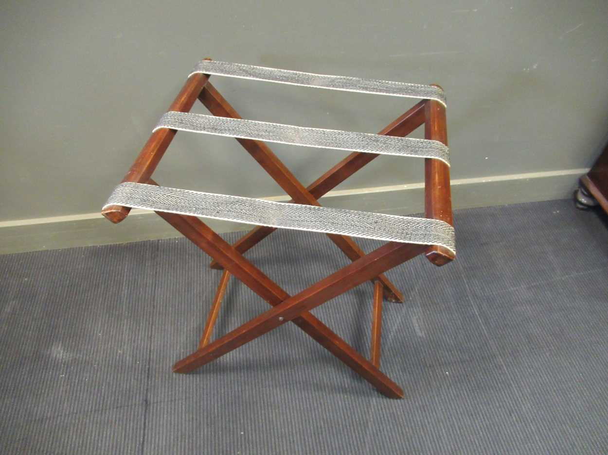 A mahogany butlers tray on folding stand (2) - Image 6 of 6