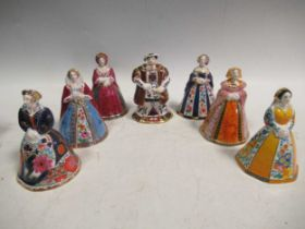 Royal Worcester Candle Snuffers - Henry VIII and his six wives, all boxed