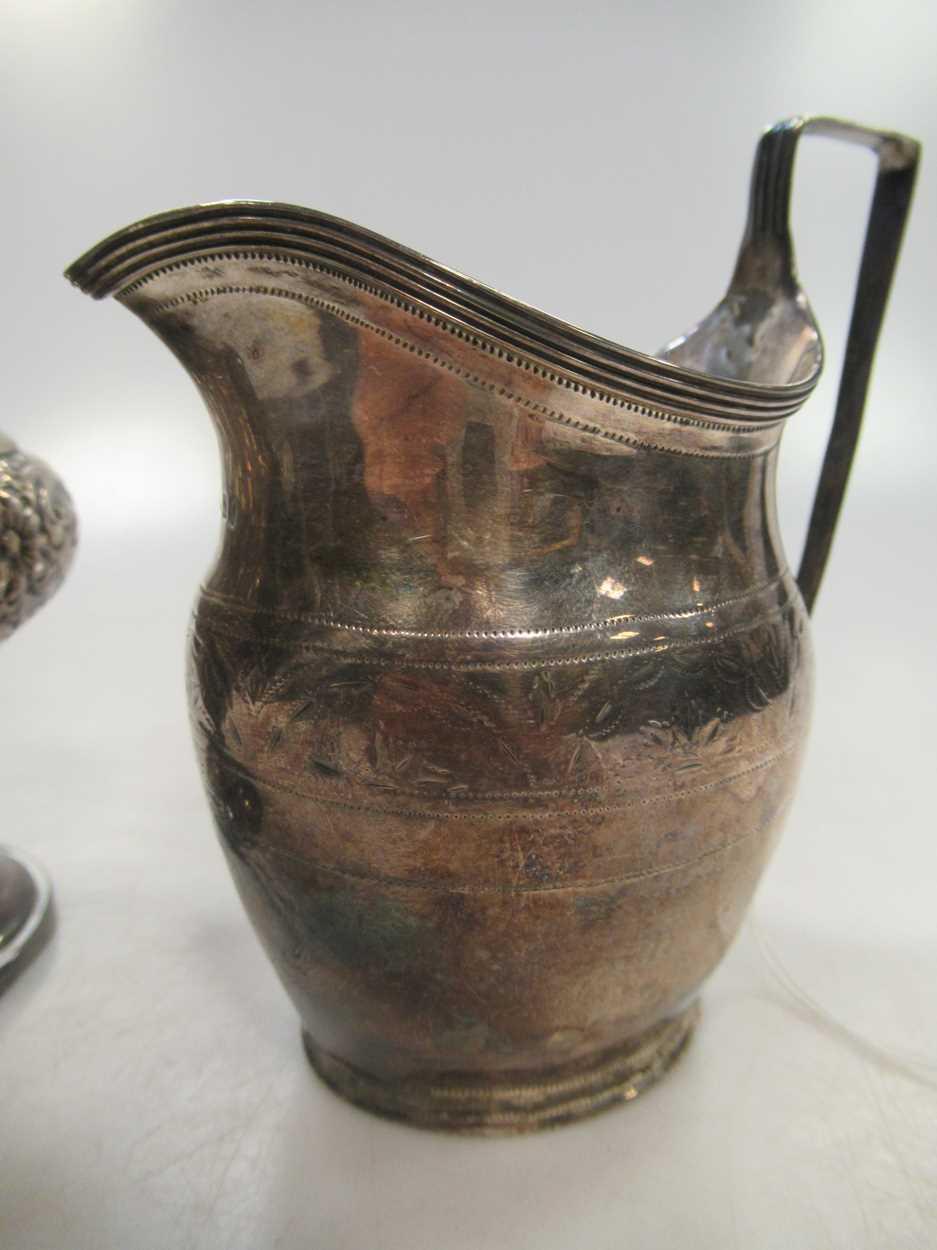 A Victorian vase sugar castor, repousse decoration, 23cm high, Sheffield 1899, maker HW for Lee & - Image 3 of 10