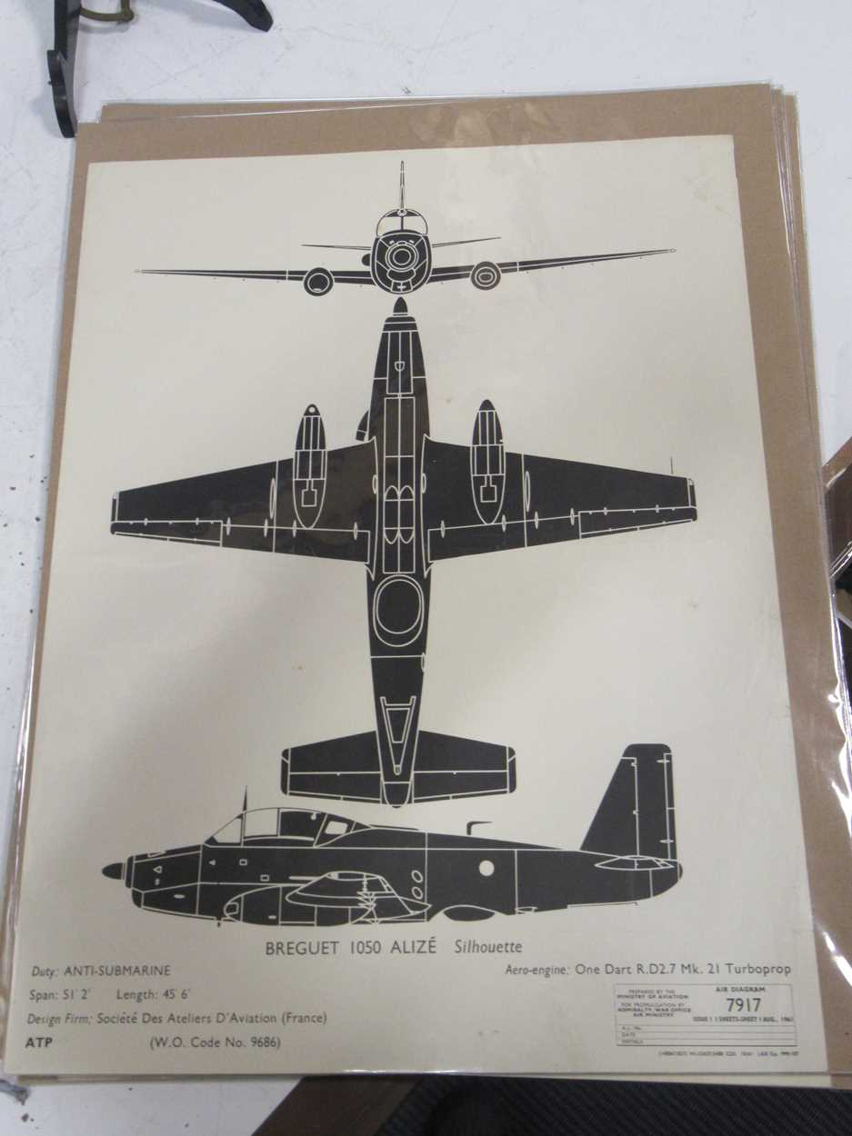 Four RAF silhoutte aeroplane identification prints, dated 1961, 1959 and 1955, 51 x 38cm; together - Image 7 of 8