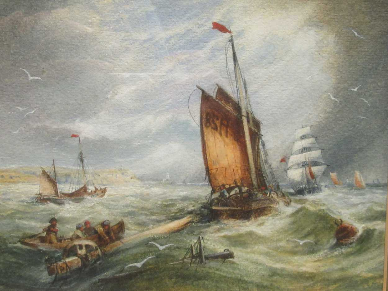 """Samuel H Phillips, Salvage at a shipwreck, signed lower left """"Samuel H Phillips 1906"""", - Image 2 of 8"""