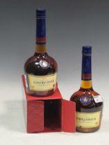 Two bottles of Courvoisier VS Cognac