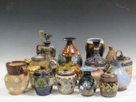 A collection of Doulton stoneware (qty)Condition report: All items have minor knocks and scratches