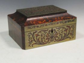 Tortoiseshell sewing boxCondition report: 31 x 26 x 20cmSee photos for all sidesWe believe the box