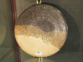 M.N.C studio pottery charger 34.5cm diameter