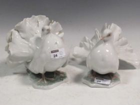 Two Rosenthall models of Doves (2)Provenance:Landwade Hall, Exning, SuffolkCondition report: