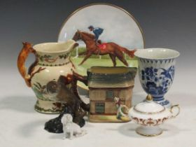A collection of pottery and porcleain to include Beswick musical jugsProvenance:Landwade Hall,