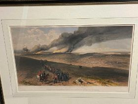 Crimean War. Eight coloured lithographs after W. Simpson published by Day & Son of battlefield