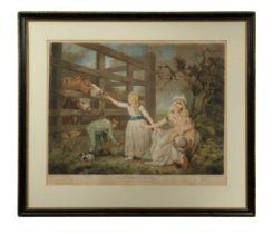 Four coloured mezzotints. W Ward after J Ward, Compassionate Children, publ. 1793, 48 x 61cm; W Ward