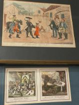 Satirical prints, French subjects. After James Gillray, The National Assembly Petrified; The