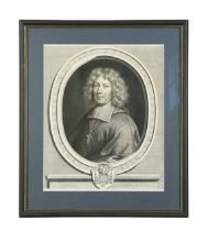 French historical clerics, six line engravings in uniform modern mounts and frames.Louis de
