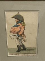 Satirical Cartoons.After James Gillray, A Democrat or Reason for Philosophy, hand coloured etching