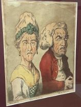 Thomas Rowlandson (1757-1827) after George M. WoodwardLe Brun Travested, or Caricatures of the