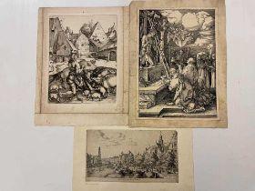 Reinier Nooms, called Zeeman (c. 1623-1667) De Noorder Market met de Kerck, laid paper etching,