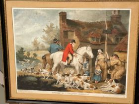 Four coloured mezzotints. W Ward after J Ward, Selling Rabbits, 49 x 61cm; Outside of a Country