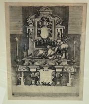 Wenzel Dietrich the Elder (1550-1590), a page taken from Architectura, etching on paper, 26.5 x 20cm