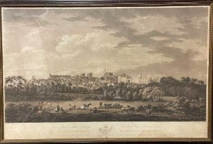 Samuel Alken after Richard Cooper, South View of Windsor Castle, aquatint, circa 1800, 45 x 69cm (