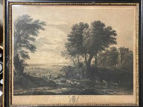James Peak after Claude Le Lorrain, Mercury and Battus; Morning; engravings published by Boydell,