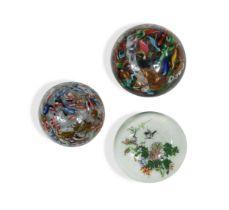 Two Murano glass paperweights,
