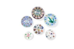 Six Scottish glass paperweights,