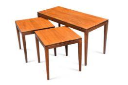 A set of three Mid-Century teak tables,