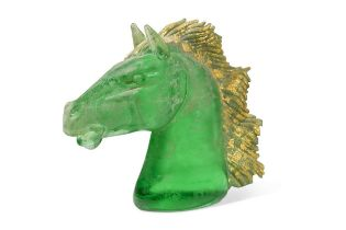 Arnaldo Zanella (Italian, born 1949) for Murano, a stylised glass model of a horse's head,