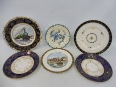A Royal Worcester limited edition cabinet plate 'Great Northern Railway', 394/1000, plus six further
