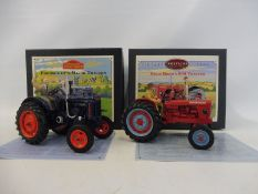 Britains Vintage Tractor Series - David Brown 900 and Fordson E27N Major, both boxed in near mint
