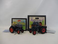 Britains Vintage Tractor Series - Fordson 27N Major and the Lanz Diesel, both boxed in near mint