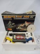 A Scalextric 200, appears complete and in very nice condition, plus an extra car, a Ferrari 312.