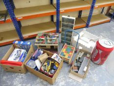 A large quantity of toys, games etc to include boxed Corgi models, Burago, Meccano etc.