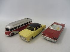 Three French Dinkys , Simca Versailles, Ford Thunderbird and Autocar Isobloc, all excellent.