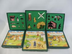 Britains Home Farm Series - 8708 Windmill set, 8706 Forge set, 8705 Farmyard set, circa 1994,