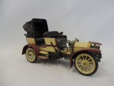A Schuco 'Mercedes Simplex' 32 PS model 1902 tinplate clockwork car, no. 1229.