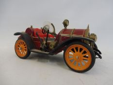 A Schuco 'Mercer' tinplate clockwork car, no. 1225.