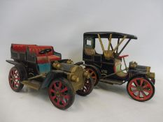A Japanese tinplate Marx Toys clockwork tinplate car and one other.