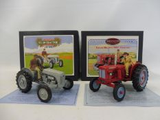 Britains Vintage Tractor Series - David Brown 900 and Ferguson TE20, both boxed in near mint