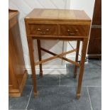 A late 20thC Games Table by James Crawford, the marquetry top folding out to show marquetry
