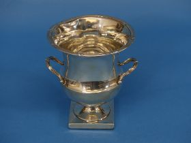 An Edwardian silver Vase, makers mark unclear, hallmarked Birmingham, 1907, in the shape of an