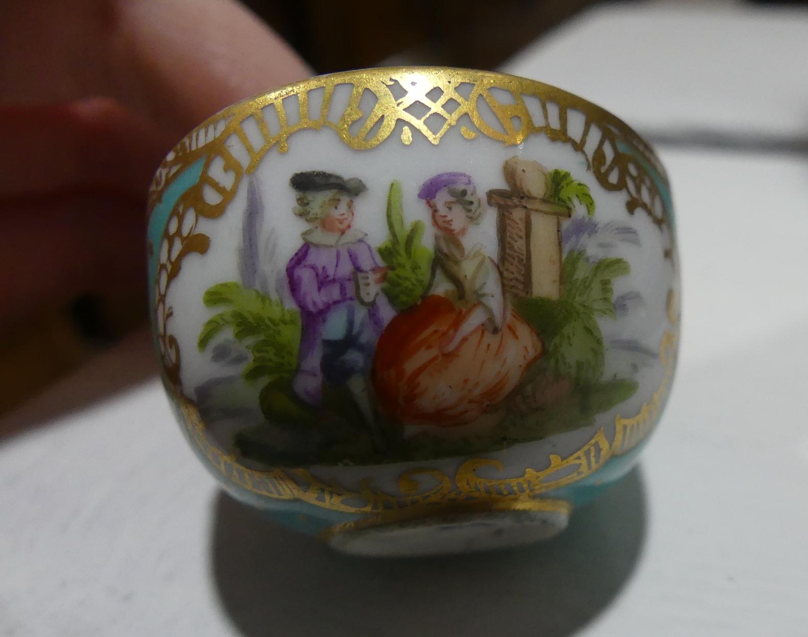 A quantity of Mixed Ceramics; including a Miniature Meissen Tea Cup, lacking handle, the blue